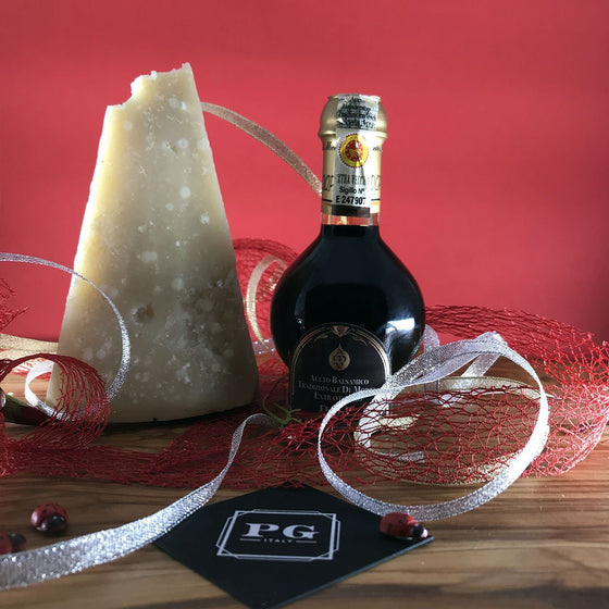 Balsamic Vinegar 25 years and Parmigiano Reggiano 28 months - PepeGusto