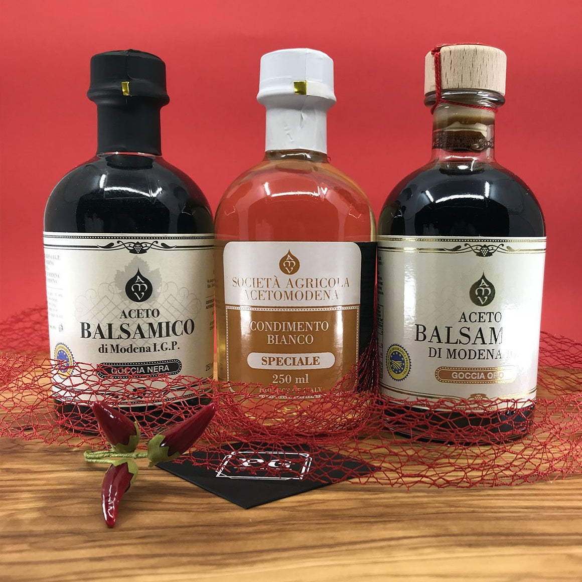 [BOXITALY] Balsamic Vinegar of Modena Top Selection 3 pcs - PepeGusto
