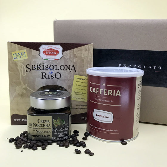 [BOXITALY] Sweet relaxation - Coffee, Hazelnut Cream & Cake - PepeGusto