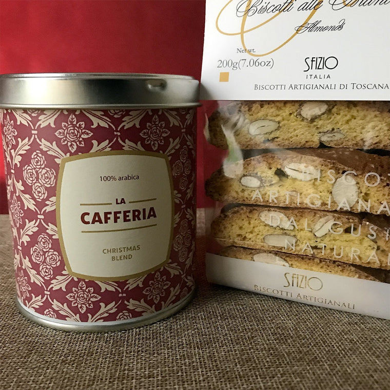 Christmas Relax Espresso Coffee and Cantucci - PepeGusto