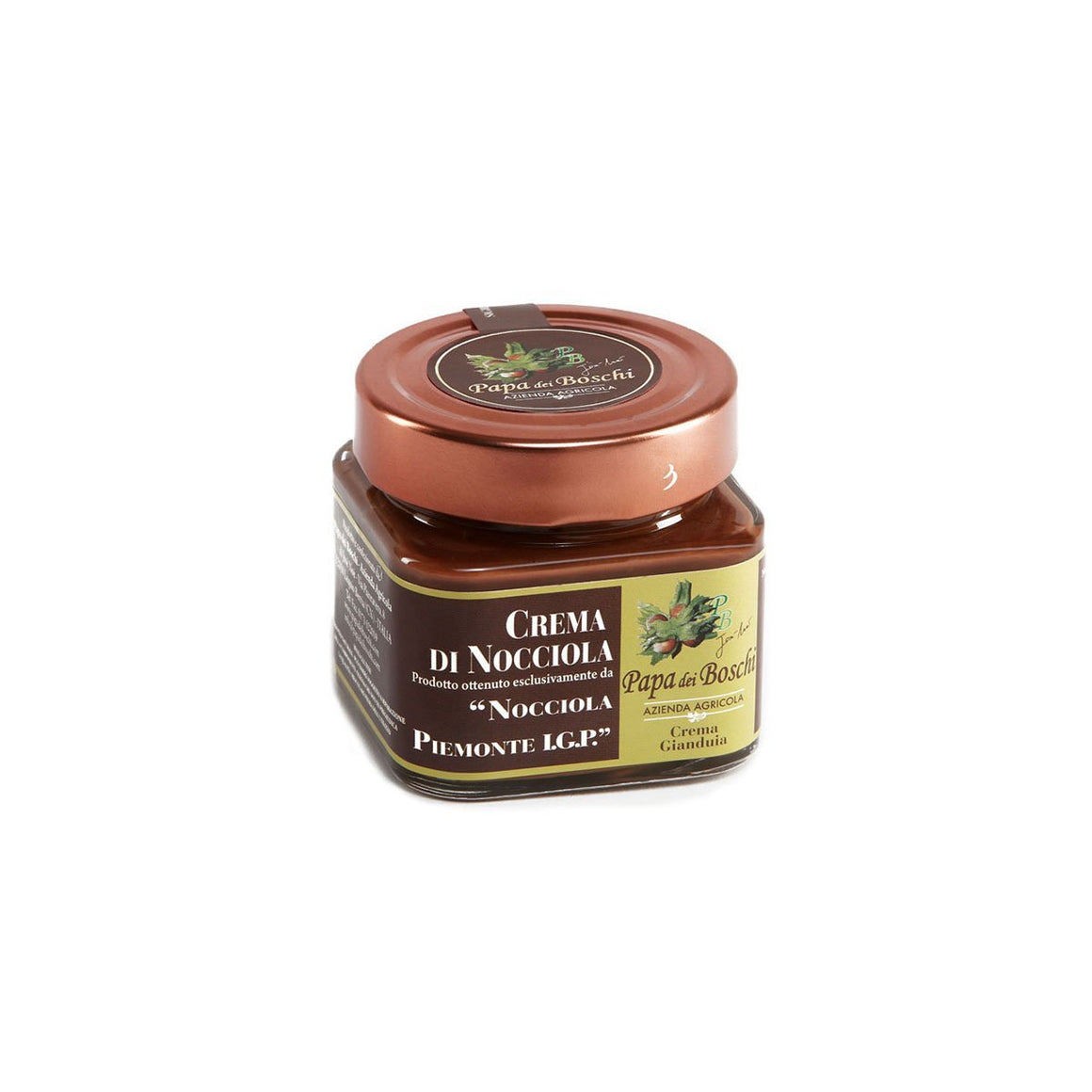 """Crema Gianduia"" Piedmont Hazelnut Cream Spreadable I.G.P. 100% - PepeGusto"
