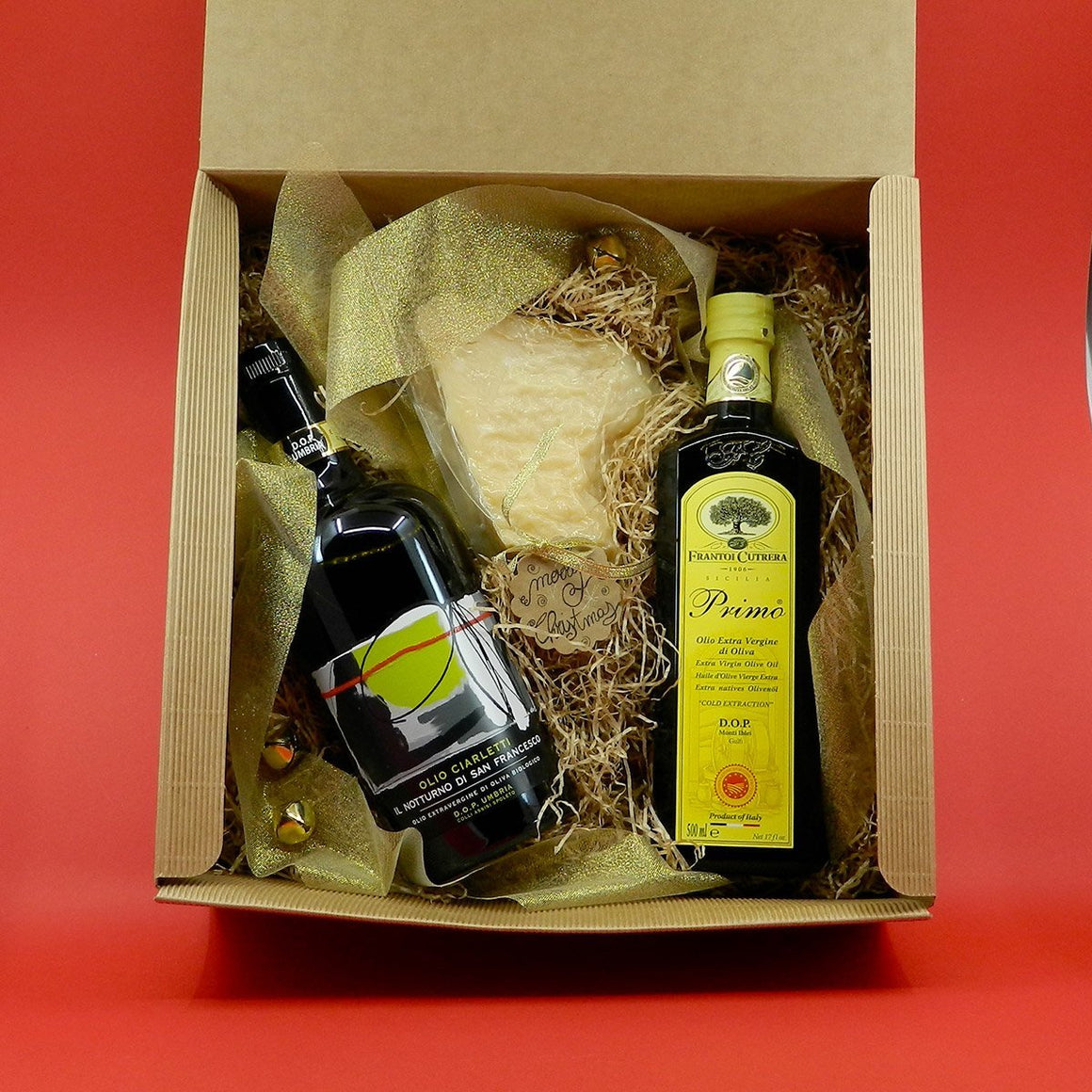 [GIFT] DOP Selection Extra Virgin Olive Oil 2 bottles & Parmigiano Reggiano - PepeGusto