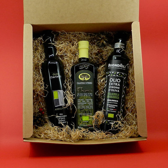 [GIFT] Organic Selection Extra Virgin Olive Oil 3 bottles Umbria - Puglia - Sicilia - PepeGusto