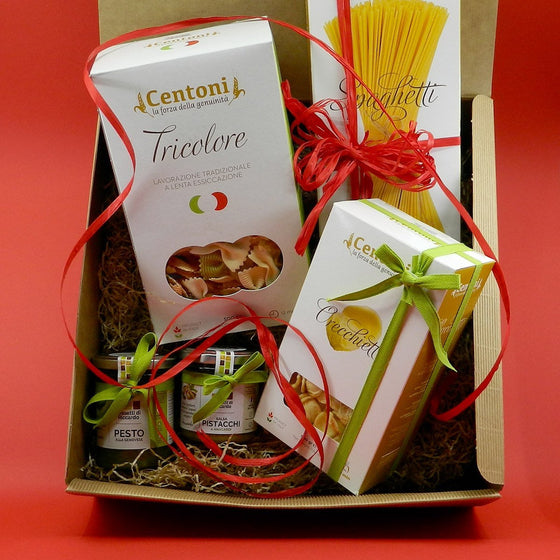[GIFT] Tris Apulian Pasta, Pesto Genovese and Pistachio and Cashew Salsa - PepeGusto