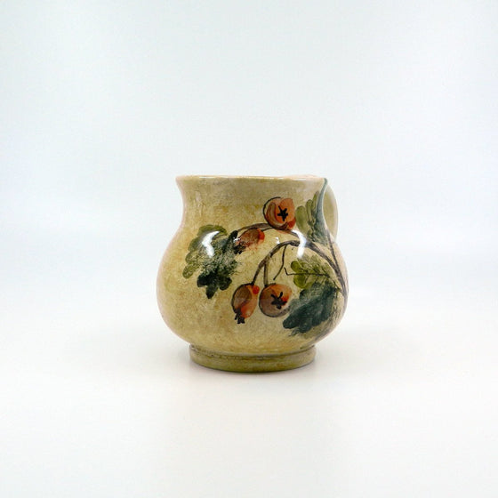 "Handmade ceramic ""Brocca Flowers"" - Ceramic of Gubbio - PepeGusto"