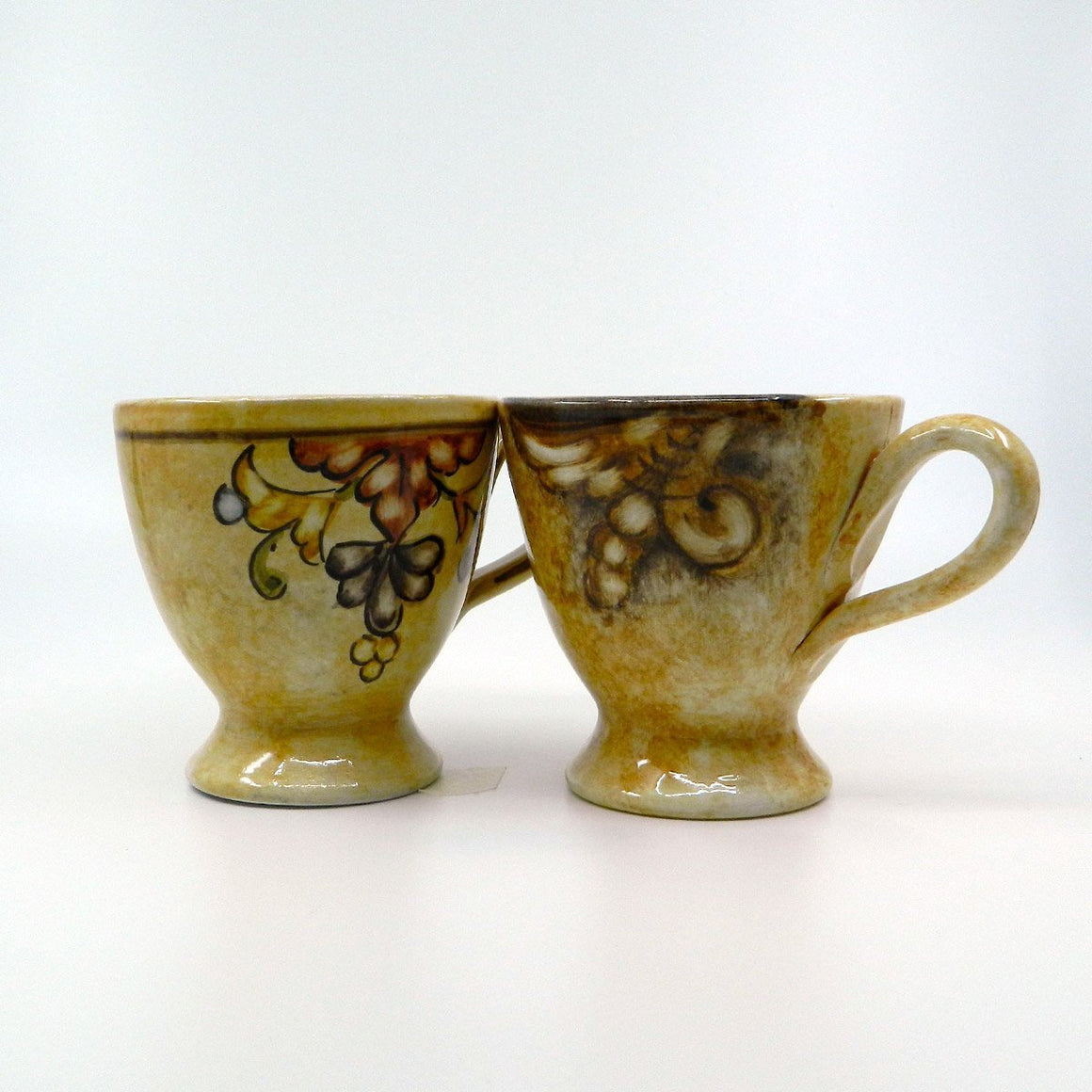 "Handmade ceramic ""Nature"" MUG 2 pcs - Ceramic of Gubbio - PepeGusto"