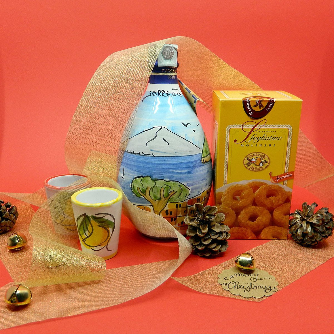 HandMade Ceramic with Limoncello of Sorrento IGP & Sfogliatine - PepeGusto