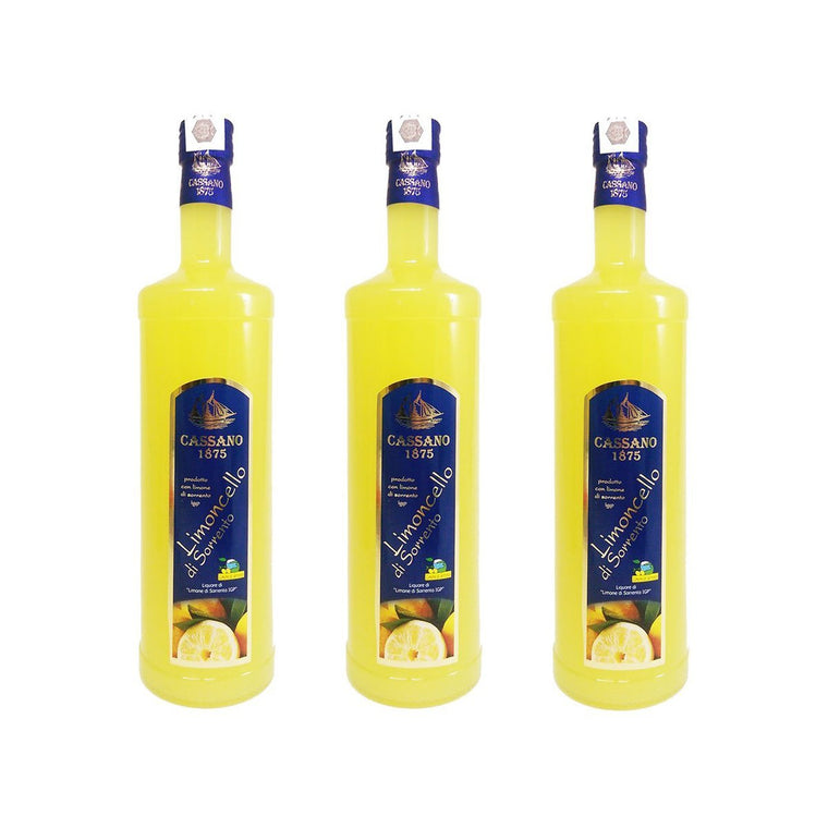 [SUMMER PARTY] Special Price 3x Limoncello of Sorrento IGP Lemon 1000ml - PepeGusto