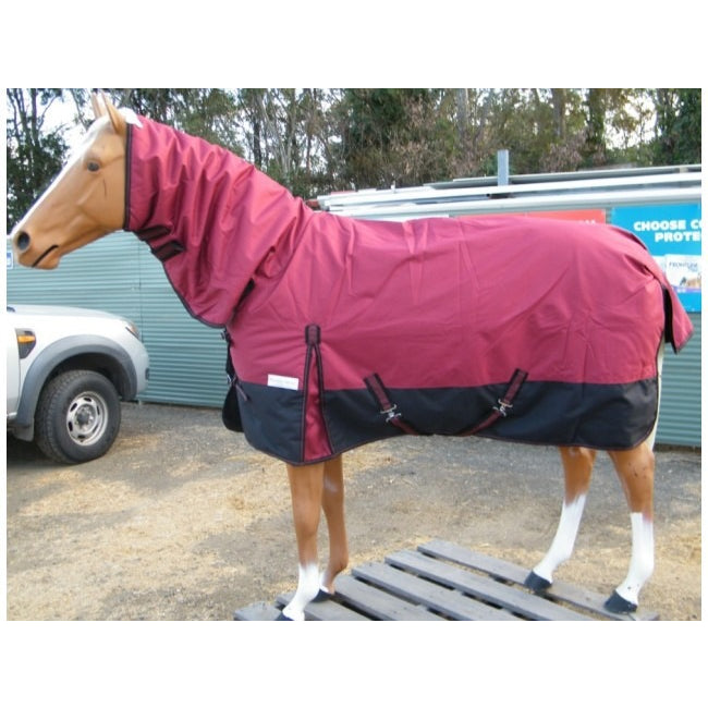1200D Rainsheet Combo with Poly Fill - Maroon & Black