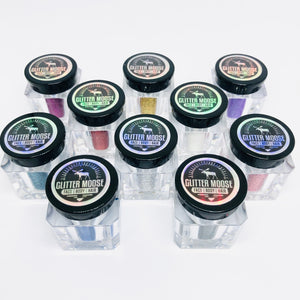Set of 10 Ultra Fine Cosmetic Glitter