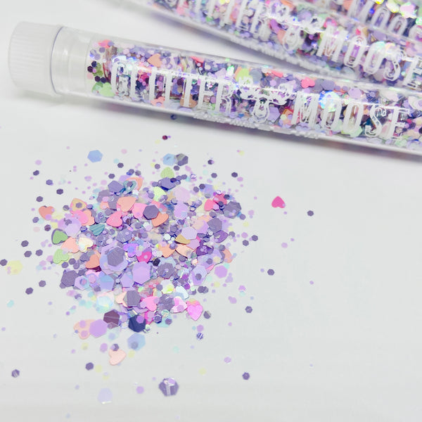 LIMITED EDITION On Cloud Shine -  Iridescent Holographic Lavender Festival Glitter