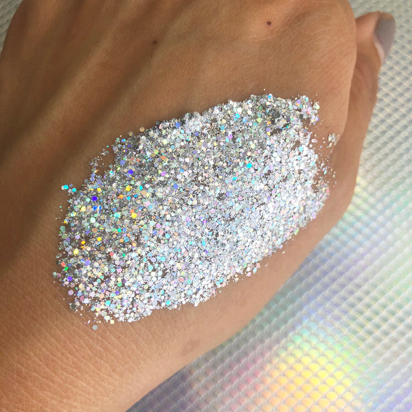 Diamond Fix - Holographic Silver Cosmetic Glitter Gel