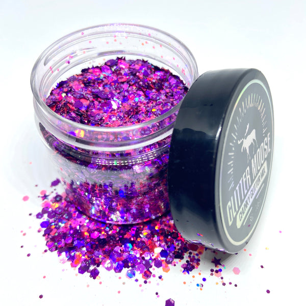 Pink Friday - Pink and Purple Iridescent and Holographic Loose Glitter