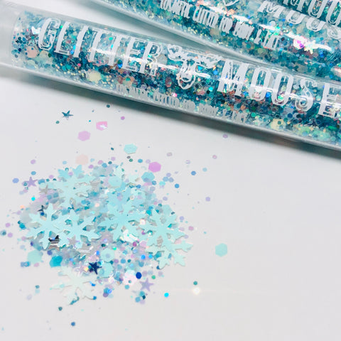 Ice Queen - White Iridescent Glitter