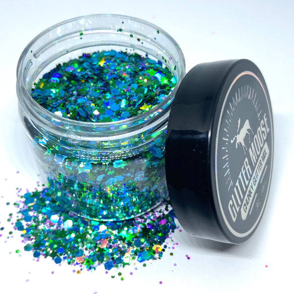 Shineasaurus Rex - Blue Holographic Loose Chunky Glitter