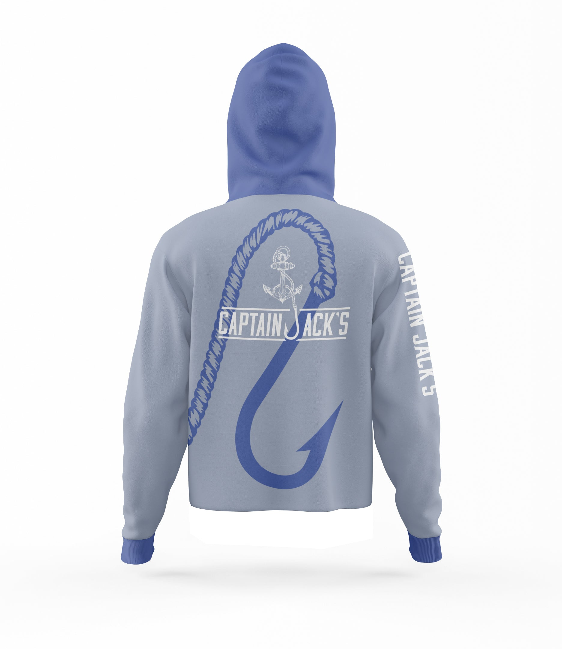 Outdoor / Fishing Shirt - GREY HOOK & ANCHOR HOODIE