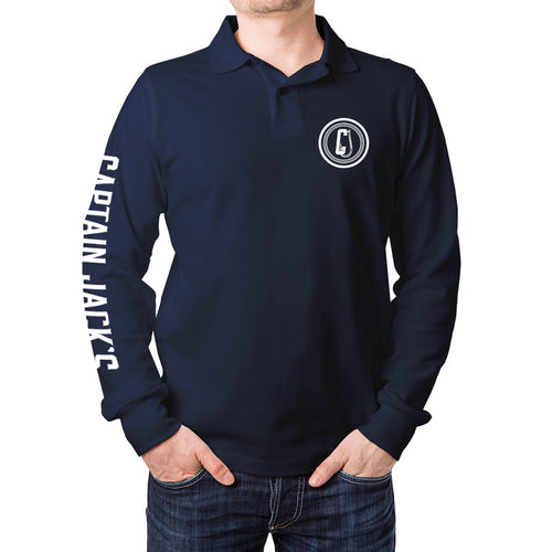 Outdoor / Fishing Shirt - NAVY RAISED WITH RODS