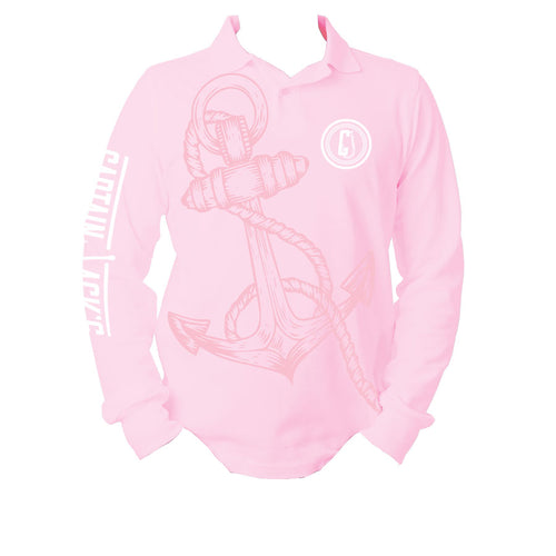 Outdoor / Fishing Shirt - PINK HOOK & ANCHOR