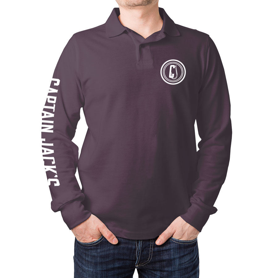 Outdoor / Fishing Shirt - MAROON RAISED WITH RODS