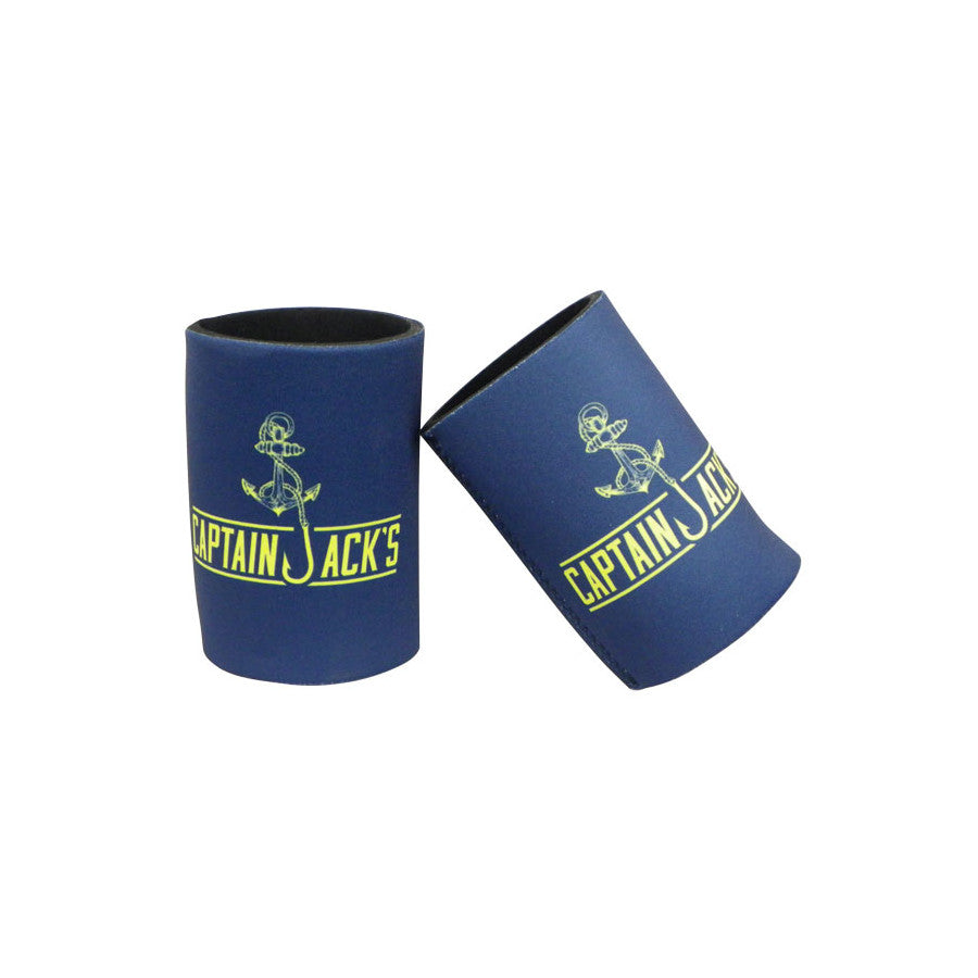 Stubby Cooler - Captain Jack's Navy & Yellow