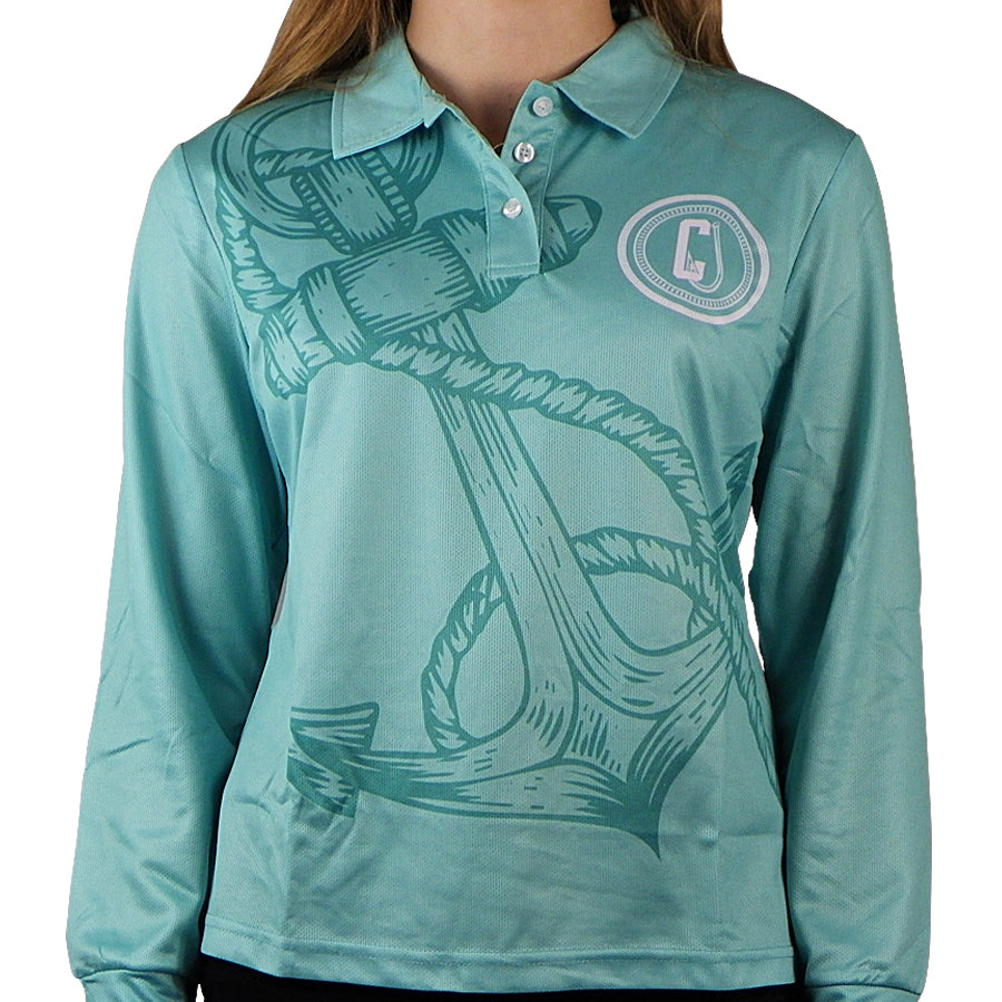 Outdoor Adventure / Fishing Shirt - MINT HOOK & ANCHOR