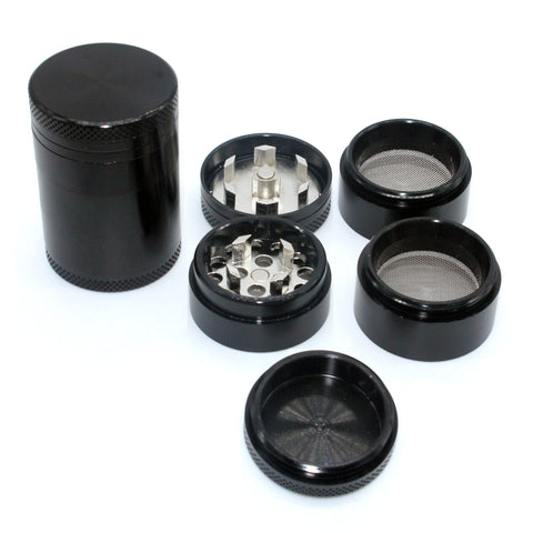 5 Layers CNC Cut Black Aluminium Grinder 30mm