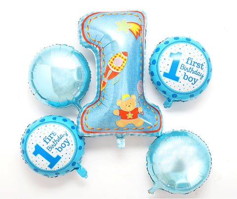 1 Year Old Birthday Balloon Set