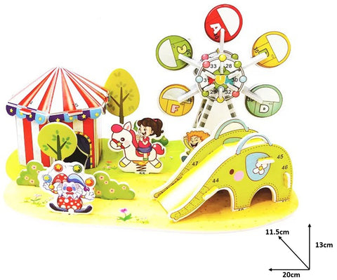 3D DIY Paper Puzzle Model Art Craft Activity Amusement Park Design