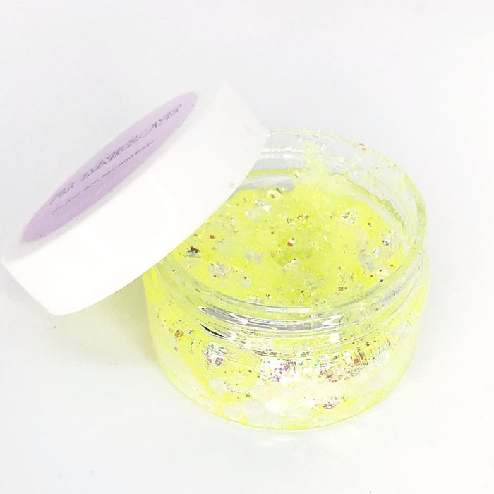 From NicLove | Iridescent Canary Cosmetic Hair & Face Glitter with Glue Pot - Australia