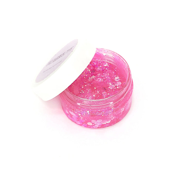 From NicLove | Iridescent Pink Cosmetic Hair & Face Glitter with Glue Pot - Australia
