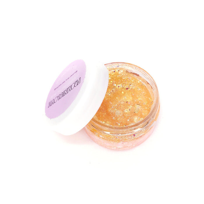From NicLove | Peach Cosmetic Hair & Face Glitter with Glue Pot - Australia