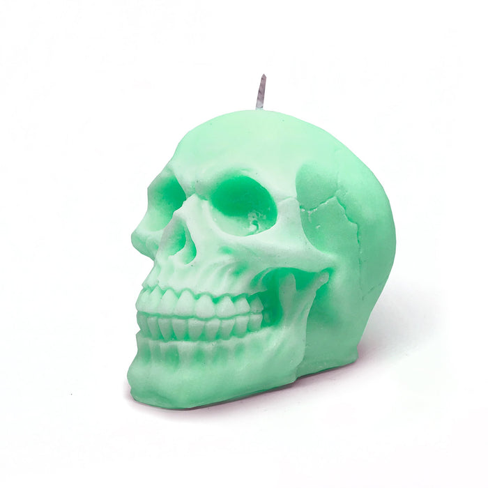 Skull Head Soy Candle | Mint Green - Australia