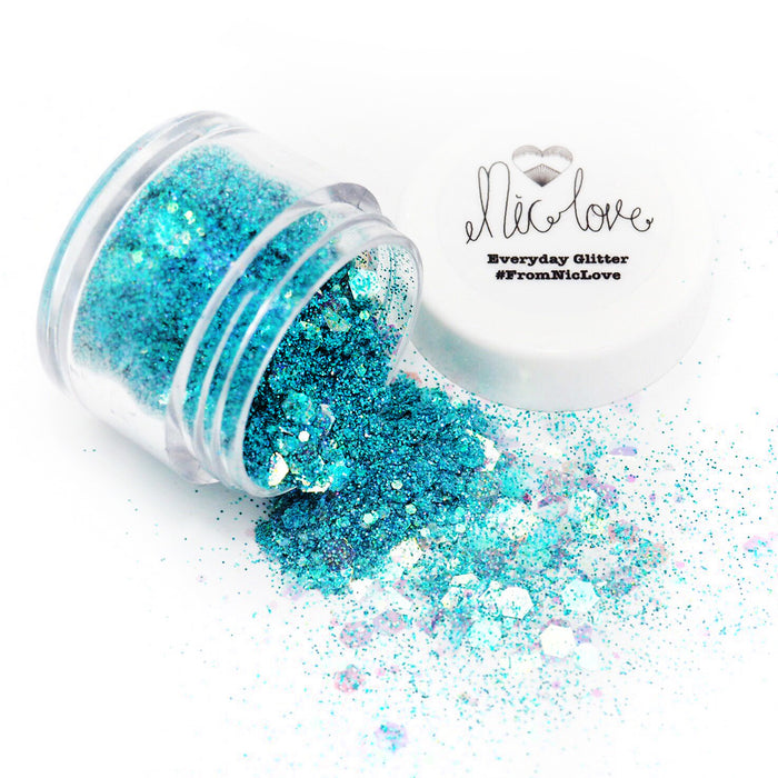 From NicLove | Mermaid Blues Cosmetic Face Glitter - Various Sizes