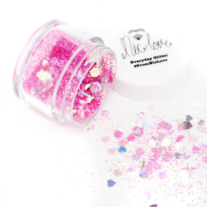 From NicLove | Flamingo Pink Cosmetic Face Glitter - Various Sizes