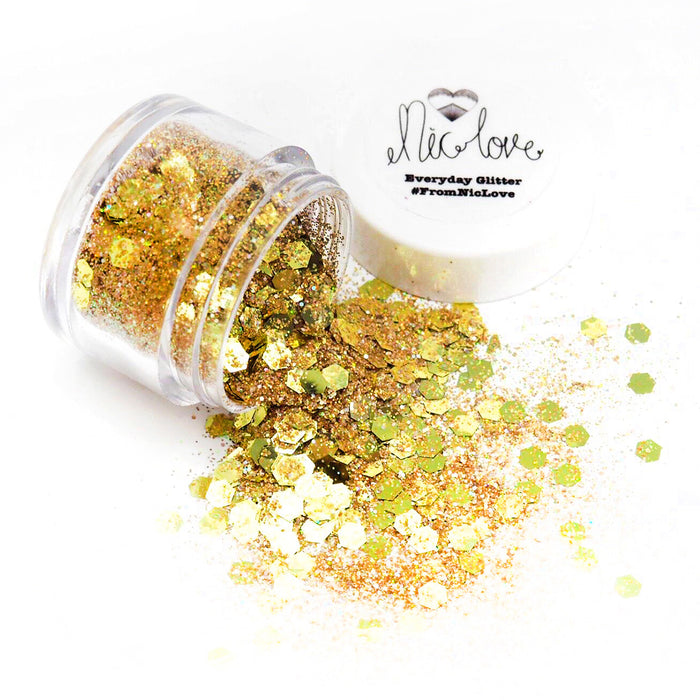From NicLove | Golden Beauty Cosmetic Face Glitter - Various Sizes