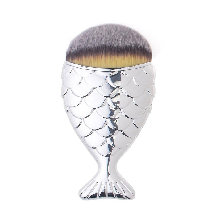 Mermaid Salon |The Original Chubby Mermaid Brush in Silver - Australia-Brushes-The Cosmetix Co-Make-up-Australia-Afterpay