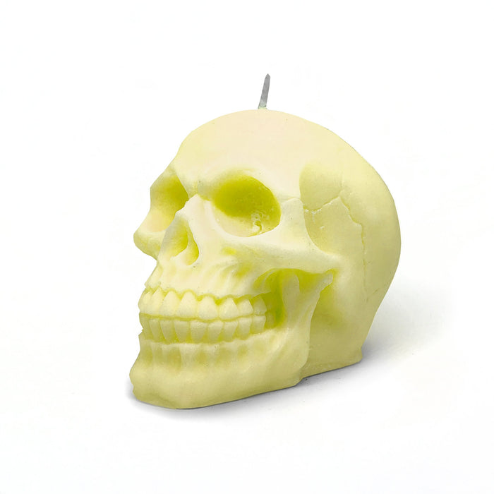 Skull Head Soy Candle | Pastel Yellow - Australia