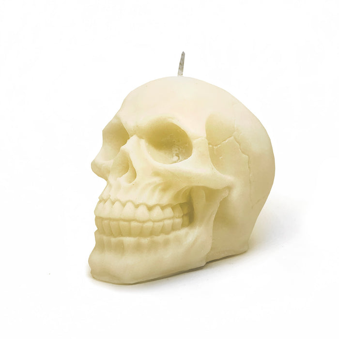 Skull Candle Australia. Natural Colour - Soy Wax - Bean Graced Candle Co. available at The Cosmetix Co