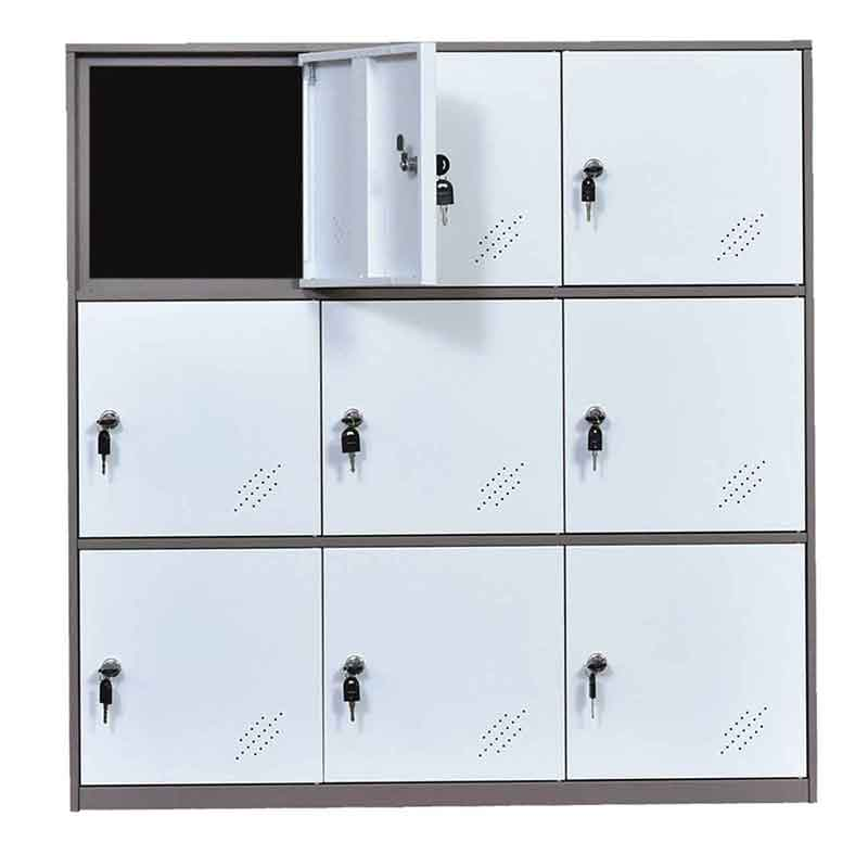 Storage Cabinet | Metal Storage Cabinet | 9 Door Cabinet | Unassembled Locker