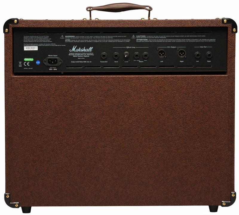 MARSHALL AS100D ACOUSTIC AMP BACK