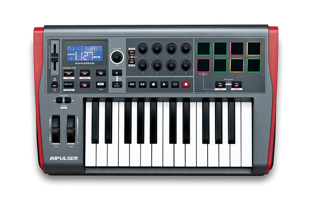 NOVATION IMPULSE 25 USB MIDI KEYBOARD CONTROLLER