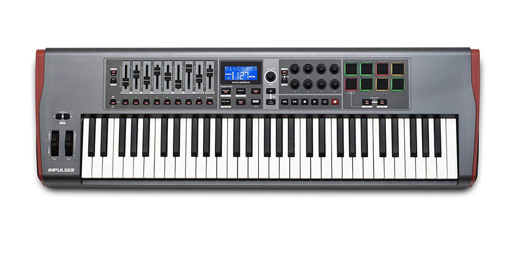 NOVATION IMPULSE 61 USB MIDI KEYBOARD CONTROLLER