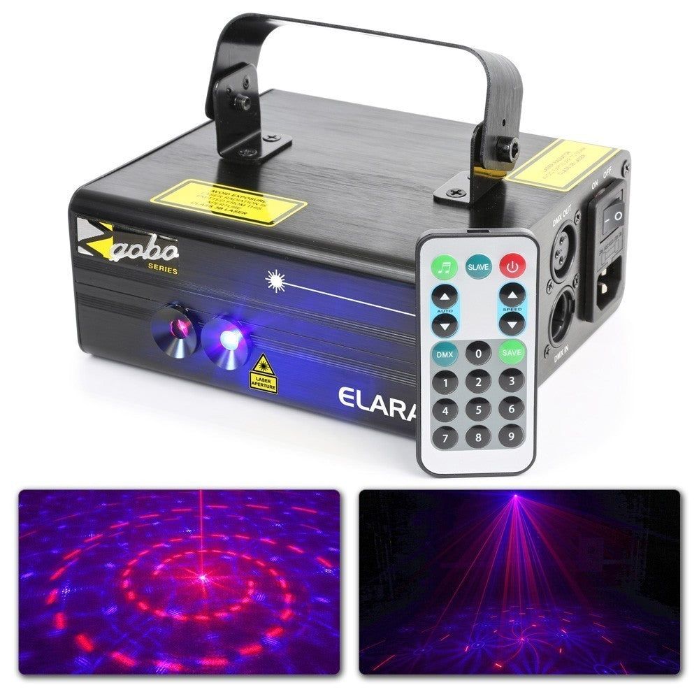 BEAMZBEAMZ ELARA DOUBLE LASER 300MW GOBO DMX - Harry Green Music World - Buy online