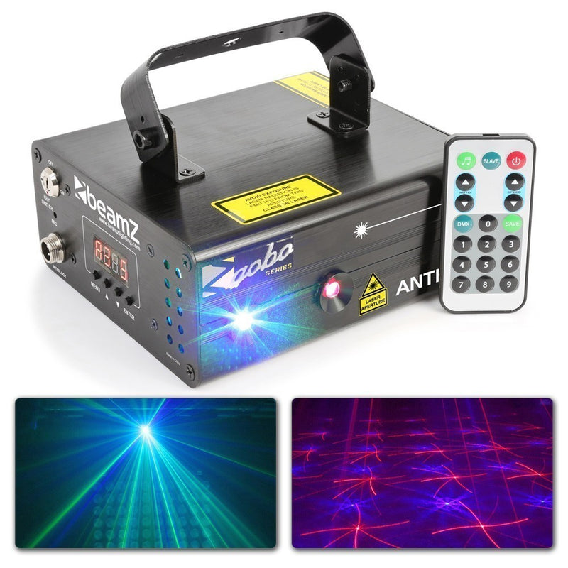 BEAMZBEAMZ ANTHE II DOUBLE LASER 600MW RGB GOBO - Harry Green Music World - Buy online