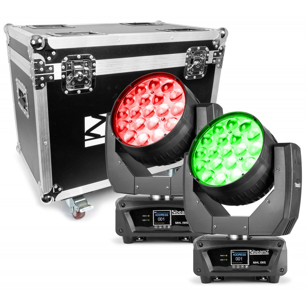 BEAMZBEAMZ MHL1915 LED MOVING HEAD 4 IN 1 2PC W/CASE - Harry Green Music World - Buy online