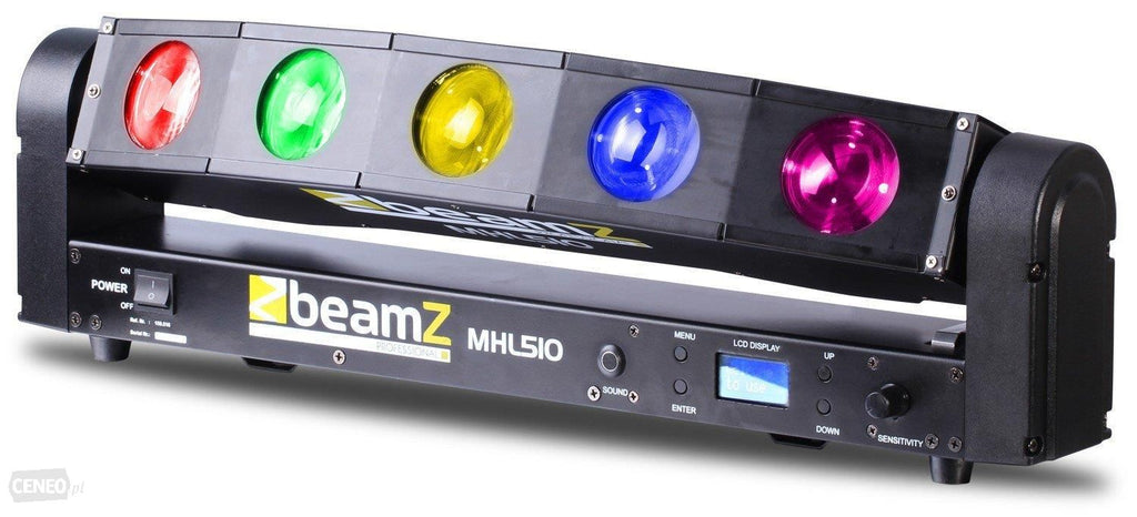 BEAMZBEAMZ MHL-510 LED MOVING HEAD COLOUR SWEEPER - Harry Green Music World - Buy online