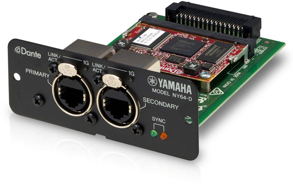 YAMAHA NY64-D DANTE DIGITAL INTERFACE CARD