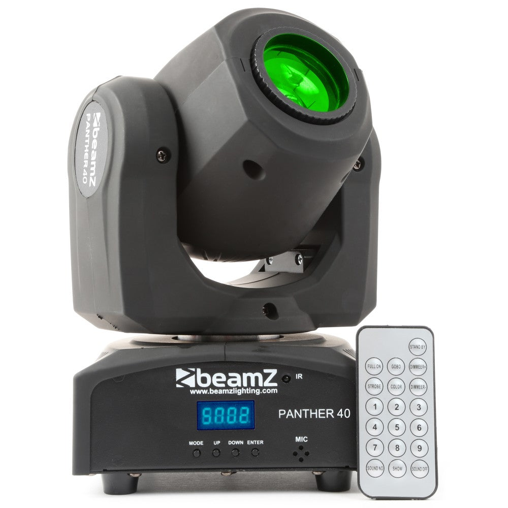 BEAMZBEAMZ PANTHER 40 MOVING HEAD SPOT LED - Harry Green Music World - Buy online
