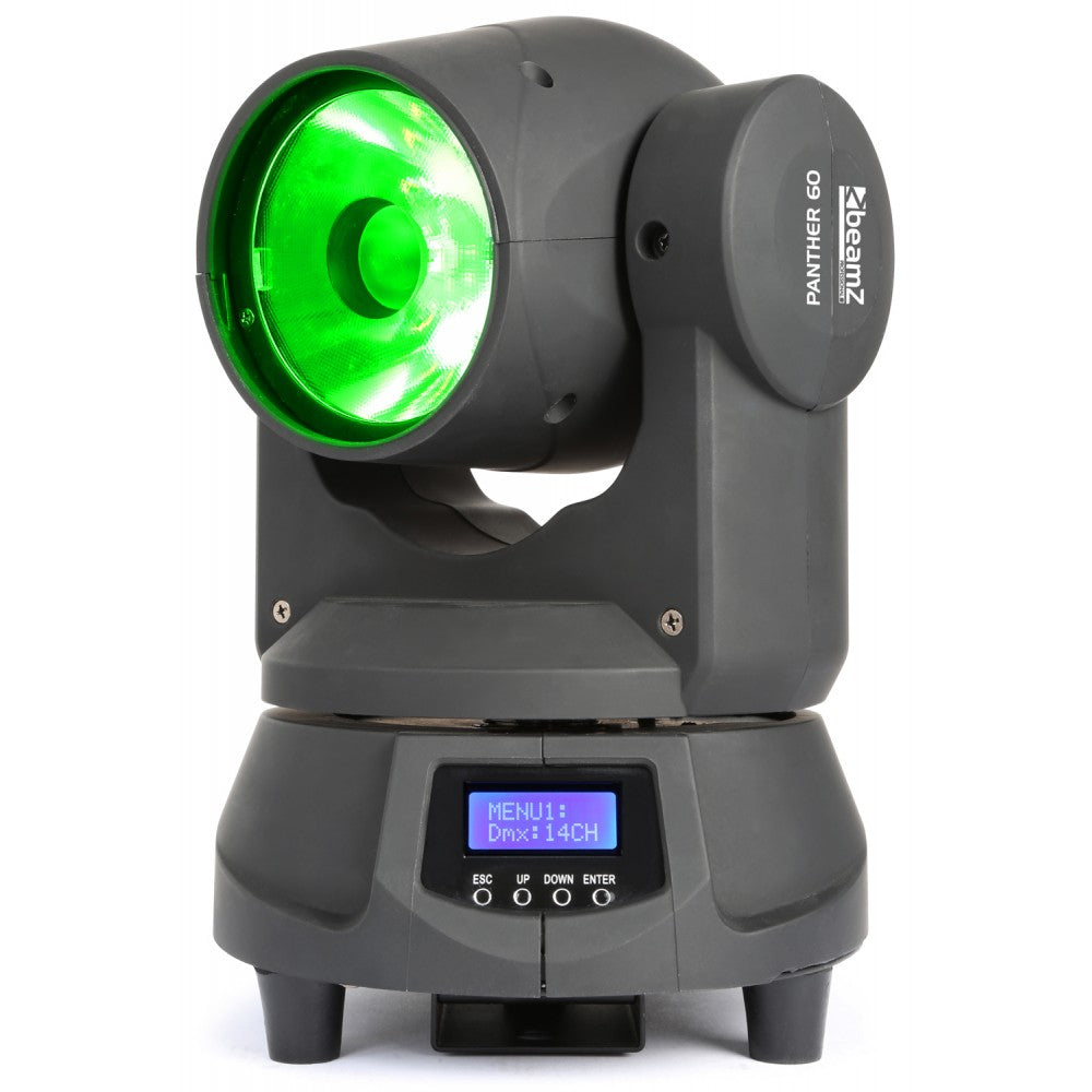 BEAMZBEAMZ PANTHER 60 MOVING HEAD SPOT LED - Harry Green Music World - Buy online