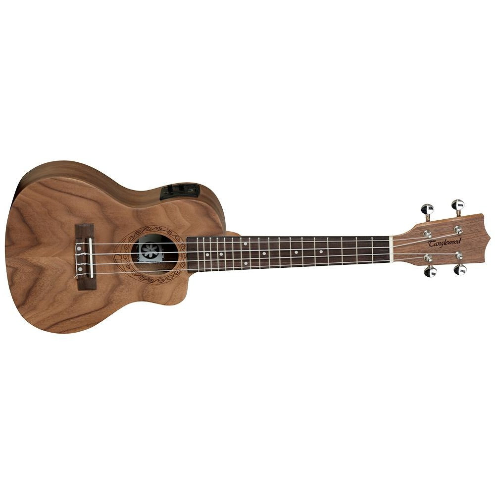 TANGLEWOODTANGLEWOOD TWT13E TIARE CONCERT UKE WALLNUT W/PICKUP - Harry Green Music World - Buy online